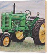 Vintage John Deere Tractor Wood Print