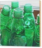 Vintage Lemonade Glass Bottles Wood Print