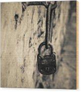 Vintage Lock Wood Print