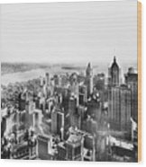 Vintage Lower Manhattan Skyscraper Photo - 1913 Wood Print