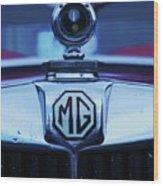 Vintage M G Emblem Wood Print