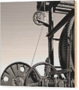 Vintage Machinery Wood Print