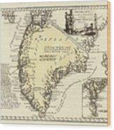 Vintage Map Of Greenland - 1791 Wood Print