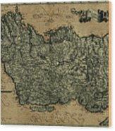 Vintage Map Of Ireland 1771 Wood Print