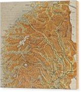 Vintage Map Of Norway - 1914 Wood Print