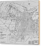 Vintage Map Of Savannah Georgia - 1910 Wood Print