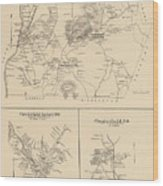 Vintage Map Of Spofford And Chesterfield Nh - 1892 Wood Print