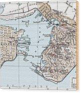 Vintage Map Of St. John New Brunswick - 1894 Wood Print