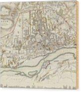 Vintage Map Of Warsaw Poland - 1831 Wood Print