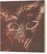 Vintage Masquerade Wood Print