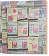 Vintage Matchbooks Wood Print