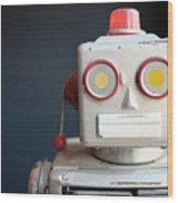 Vintage Mechanical Robot Toy Wood Print