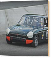 Vintage Mg Race Car Wood Print