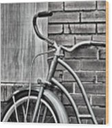 Vintage Montgomery Ward Bicycle 6 - B/w Wood Print