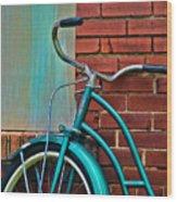 Vintage Montgomery Ward Bicycle 6 Wood Print