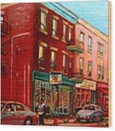 Vintage Montreal Wood Print
