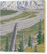 Vintage Mount St. Helens Travel Poster Wood Print