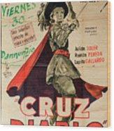 Vintage Movie Poster 7 Wood Print