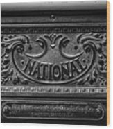 Vintage National Cash Register Wood Print