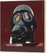 Vintage Nazi Gas Mask Barry Sadler Collection Tucson Arizona 1971-2016 Wood Print