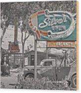 Vintage Neon Signs Wood Print