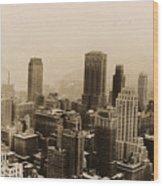 Vintage New York City Skyline Photograph - 1935 Wood Print
