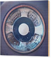 Vintage Oil Indicator Wood Print