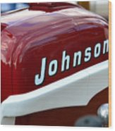 Vintage Johnson Outboard Red  Wood Print