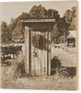 Vintage Outhouse  Wood Print