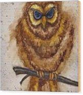 Vintage Owl Wood Print