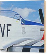 Vintage P51 Fighter Aircraft, Burnet Wood Print