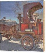 Vintage Packard Truck Wood Print