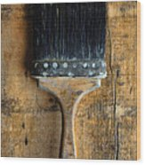 Vintage Paint Brush Wood Print