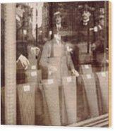 Vintage Paris Men's Fashion Wood Print