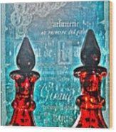 Vintage Paris Perfume Wood Print
