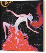 Vintage Paris Showgirl Wood Print