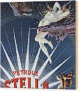 Vintage Petrole Stella Poster Wood Print