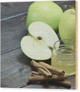 Vintage Photo Of Green Apples Wood Print