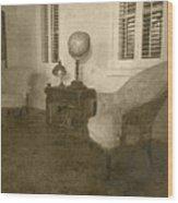 Vintage Photograph Farmhouse Interior Wood Print