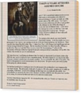 Vintage Photograph Of Vincent Van Gogh - Taken 13 Years After His Death - Article Wood Print