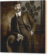 Vintage Photograph Of Vincent Van Gogh - Taken 13 Years After His Death Wood Print