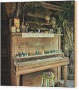 Vintage Piano  Wood Print