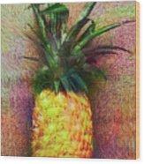 Vintage Pineapple Wood Print