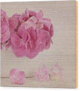 Vintage Pink Hydrangea Wood Print
