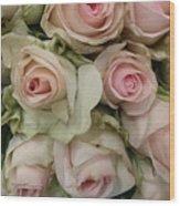 Vintage Pink Roses Wood Print