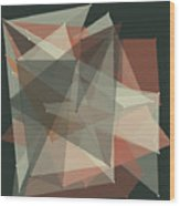 Vintage Polygon Pattern Wood Print