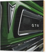 Vintage Pontiac Gto - Doc Braham - All Rights Reserved Wood Print