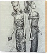 Vintage Ponytail Barbie Wood Print
