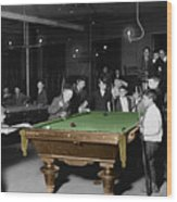 Vintage Pool Hall Wood Print