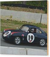 Vintage Porsche 19 Climbing Hill Wood Print
